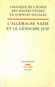 couverture L'Allemagne nazie et le Génocide juif