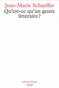Couverture de l'ouvrage Qu'est-ce qu'un genre littéraire ?