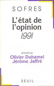Couverture de l'ouvrage L'Etat de l'opinion (1991)