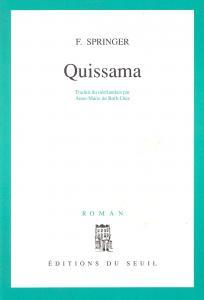 Couverture de l'ouvrage Quissama