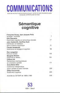 Couverture de l'ouvrage Communications, n° 53, Sémantique cognitive