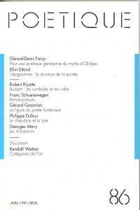 Couverture de l'ouvrage Poétique, n° 086