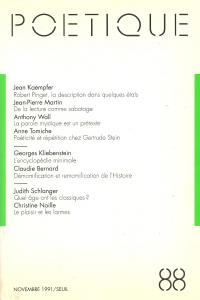 couverture Poétique, n° 088