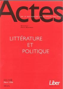 Couverture de l'ouvrage Actes de la recherche en sciences sociales, n° 111-112