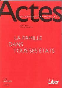 Couverture de l'ouvrage Actes de la recherche en sciences sociales, n° 113