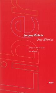 couverture Pour Albertine. Proust et le sens du social