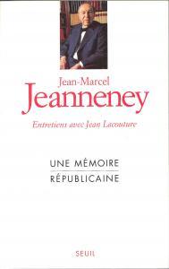 Couverture de l'ouvrage Une mémoire républicaine. Entretiens avec Jean Lacouture