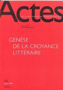 Couverture de l'ouvrage Actes de la recherche en sciences sociales, n° 123