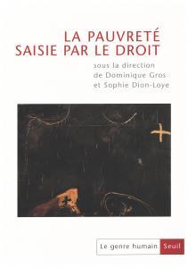 couverture Le Genre humain, n° 38-39,  La Pauvreté ...