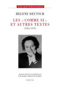 couverture Les ''Comme Si'' et autres textes (1933-1970)