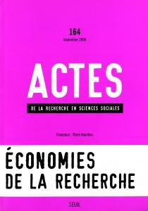 Couverture de l'ouvrage Actes de la recherche en sciences sociales, n°  164, Sauver la recherche?