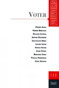 couverture Pouvoirs, n° 120, Voter