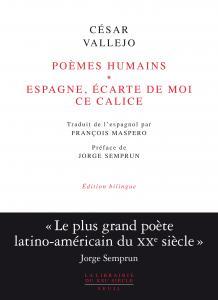 couverture Poèmes humains et Espagne, écarte de moi...
