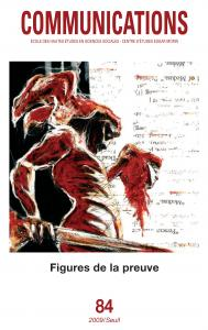 couverture Communications, n° 84. Figures de la preuve
