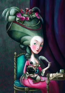Couverture de l'ouvrage Le Carnet de notes Marie-Antoinette, de Benjamin Lacombe