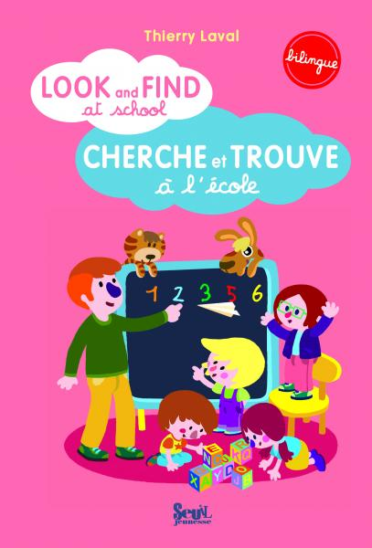Couverture de l'ouvrage Look and find at school