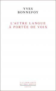 couverture L'Autre Langue à portée de voix