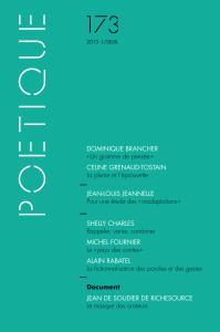 couverture Poétique, n°173