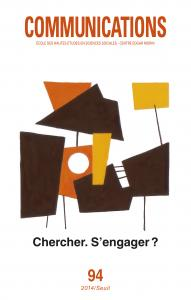 couverture Communications, n° 94. Chercher, s'engager ?