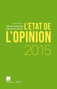Couverture de l'ouvrage L'État de l'opinion 2015