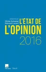 Couverture de l'ouvrage L'État de l'opinion 2016