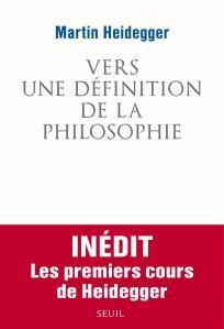 couverture Vers une définition de la philosophie