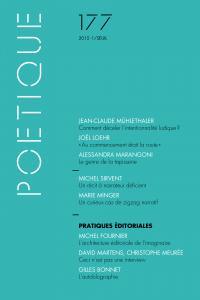 couverture Poétique, n° 177