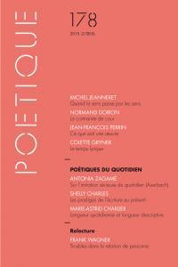 couverture Poétique, n° 178