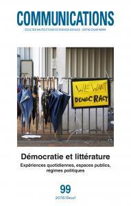 couverture Communications, n° 99. Démocratie et lit...