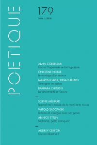 couverture Poétique, n° 179