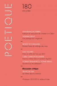 couverture Poétique, n° 180