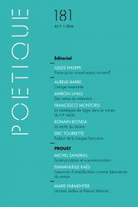 couverture Poétique, n° 181