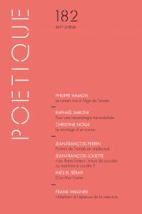Couverture de l'ouvrage Poétique, n° 182