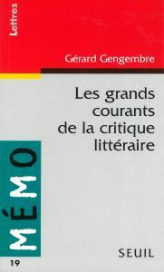couverture Les grands courants de la critique litté...