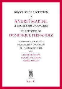 couverture Discours de réception à l'Académie fran?...