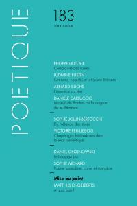 couverture Poétique, n° 183