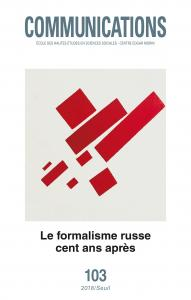 couverture Communications, n° 103. Le Formalisme ru...