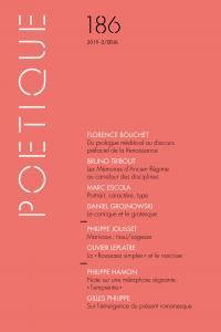 Poétique, n° 186