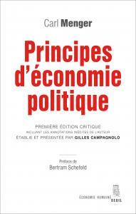 couverture Principes d'économie politique
