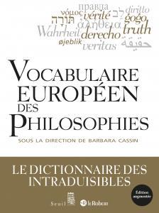 couverture Vocabulaire européen des philosophies