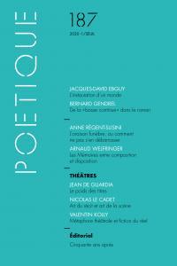 couverture Poétique, n° 187