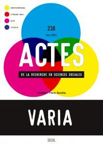 couverture Actes de la recherche en sciences social...