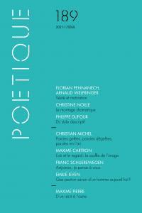 couverture Poétique, n° 189