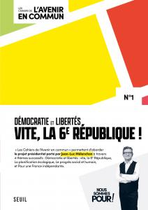couverture Les Cahiers de l'Avenir en commun, N°1