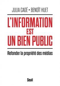 couverture L'Information est un bien public