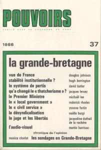 couverture Pouvoirs, n° 37