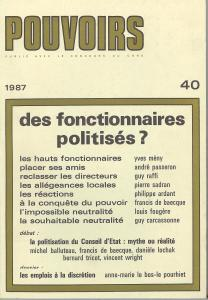 couverture Pouvoirs, n° 40