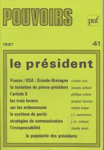 couverture Pouvoirs, n° 41