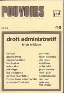 couverture Pouvoirs, n° 46