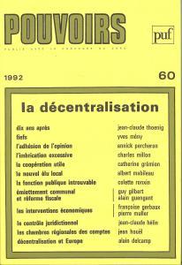 Couverture de l'ouvrage Pouvoirs, n° 60